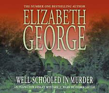 ELIZABETH GEORGE Well-Schooled In Murder - 3 CD Audio Talking Book - New