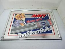 Football Mascot Navy Bill the Goat Coors Light Beer Mirror Silver Bullet 18 x 13