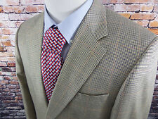 41R HASPEL Men's 2 Button Plaid Blazer Jacket Sportcoat Wool/Silk