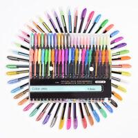 48 Gel Pen Set Metallic Pastel Glitter Neon Gel Pens For Adult Colouring Book