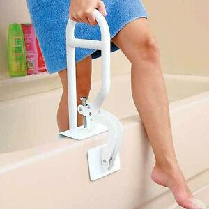 """Bath Safety Bar Bathtub Rail Grab White Bathroom Shower Handle Tub 14""""Adjust NEW"""