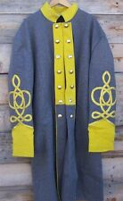 civil war confederate cavalry frock coat with 4 row braids 44