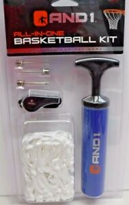 AND1 Basketball Pump Hand Inflator Kit Blue