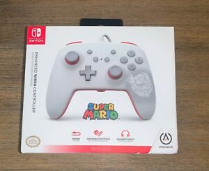 PowerA Enhanced Wired Controller Super Mario White For Nintendo Switch NEW
