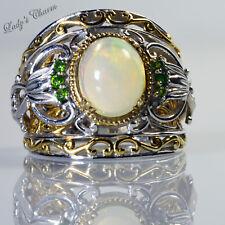 Michael Valitutti Gems en Vogue Ethiopian Opal Chrome Diopside Sterling Ring 7