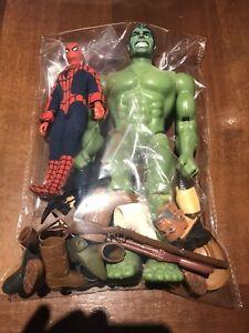 Mego Big Jim Anni 70/80 Lotto Accessori + Spider Man Hulk