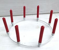 Metallkranz Kranz f. 8 Kerzen weiss Adventskranz Kerzenkranz Schweden 25 cm