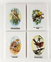 Porzellanfabrik Friesland Sammelbilder Vogel des Jahres 1989-1992 4 Stück