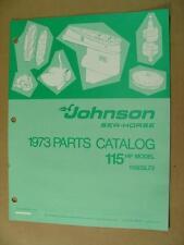 1973 JOHNSON 115 HP MODELS 115ESL73 OUTBOARD MOTOR ENGINE PARTS CATALOG 386139