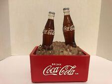 Vintage Coca Cola Light Up Music Box 2 Bottles Ice Cooler Advertisement Piece