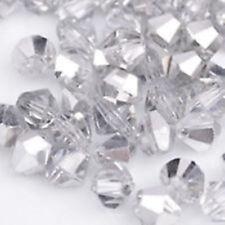 100pcs swarovski Crystal 4mm 5301# Bicone Beads half silvered