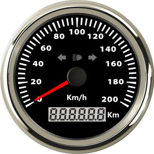 85mm Waterproof ATV Motorcycle GPS Speedometer 200 km/h w/ Mileage LED Indicator