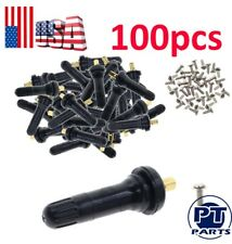 100 TPMS Tire Pressure Sensor Rubber Valve Stems For Ford Mustang Transit Taurus