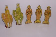 Vintage 5 Marx Tin Soldiers Targets Cavalry & Private 1930s