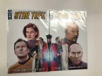 Star Trek Q Conflict | Connecting Covers #5 & 6 Lot | IDW Comics | NM Books |