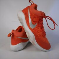 Nike Zoom Basketball Shoes Sneakers Orange Silver 922048-800 Size 9