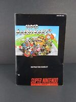 Super Mario Kart Super Nintendo SNES Manual Instruction Booklet Only!