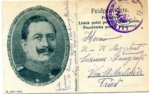 AUSTRIA  1915  military card  from HUNGARY  to  TRIEST