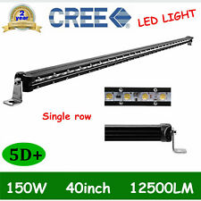 "150W 40"" Slim LED Work Light Bar Single Row Led Driving Fog 4X4 5D LENS PK 41/42"
