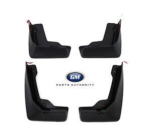 2020-2022 Cadillac XT5 Premium Molded Splash Guards Package Front & Rear Black
