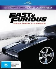 Fast & Furious (Blu-ray, 2017, 8-Disc Set)