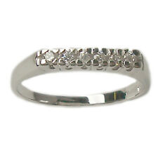 Anillo de Compromiso Tope Oro Blanco 18 Kt. con Diamantes Naturales Talla