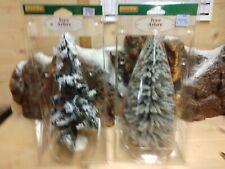 Lemax Village collection trees; Winter season