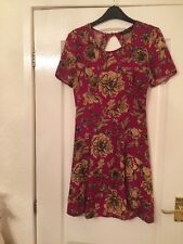 Miss Selfridge Size 6 Dress In Pink With Floral Pattern