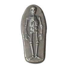 2016 Hand Poured 3 oz .999 Silver Antiqued Finish 3D Skeleton USA Bullion Bar