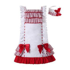 Pettigirl Traditional Spanish Girl Dress + Hairbands
