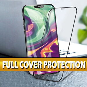 For iPhone 12 Mini Pro Max 11 X XS XR Full Cover Tempered Glass Screen Protector
