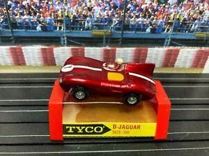 Vintage Tyco Speedways Jaguar S628 HO Slot Car w Original Box