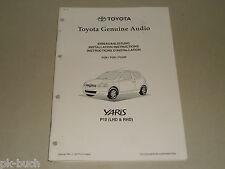 Einbauanleitung Nachrüstung Radio Audio System Toyota Yaris P10, Stand 01/1999