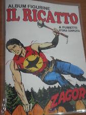 """Album Figurine a Fumetti con Set completo inedito ZAGOR """"IL RICATTO"""""""