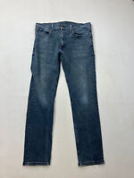 LEVI'S 511 SLIM Jeans - W36 L32 - Navy - Good Condition - Men's