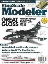 Fine Scale Modeler Oct.2013 USMC Marine F9F-2 Panther German Camo Battleship
