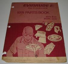 Parts Book Ersatzteilkatalog Evinrude Outboards Mate 2 HP Model 2402E Stand 1974
