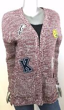 Hippie Rose Flyaway Sweater Long Sleeve Patch Cardigan Wrap Junior Women M New