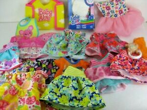 Big Lot Of Hasbro Baby Alive Doll Clothes & Diapers