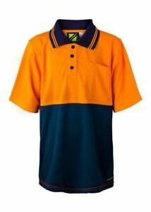 WorkCraft Kids Hi Vis Two Tone Short Sleeve Polo with Pocket (WSPK20)