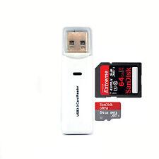 Memwah Usb 3.0 Multi Lector De Tarjetas Blanco Adaptador Para Sd Sdhc Sdxc Micro Sd MSXC