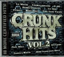 Crunk Hits Vol 2  18 More Certified Hits  Various  BRAND  NEW SEALED  CDV