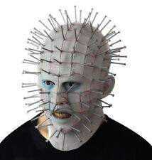 Adult  Mask Hellraiser Halloween Fancy Dress Scary Latex Pin Head Mask
