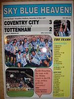 Coventry City 3 Tottenham Hotspur 2 - 1987 FA Cup final - souvenir print