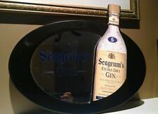 """2007 Seagram's Extra Dry wooden frame mirror (21"""" X 18"""")"""