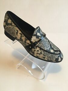 Sam Edelman Womens Loraine Black White Multi Snake Print Loafers  8M (989062)