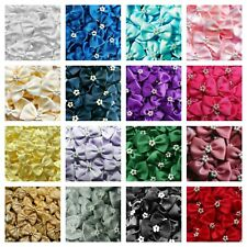 Trucraft - 3.5cm Wide 🎀 Satin Ribbon Pearl Craft Bows Bow Ties 🎀 Pack of 10