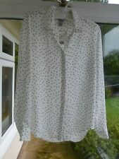 H&M White & Black Spotted Blouse UK 10 BNWT