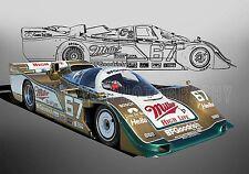1989 Porsche 962 at Daytona Vintage Classic Race Car Photo CA-1137