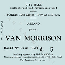 Van Morrison Concert Coasters March 1979 Ticket High quality Coaster